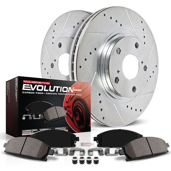 Max Brakes Front /& Rear Performance Brake Kit Premium Slotted Drilled Rotors + Ceramic Pads Fits: 2007 07 2008 08 2009 09 2010 10 Toyota Camry KT039333