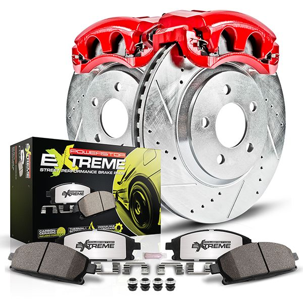 PowerStop Z26 Street Warrior Brake Kit with Calipers for High-Horsepower Muscle Cars