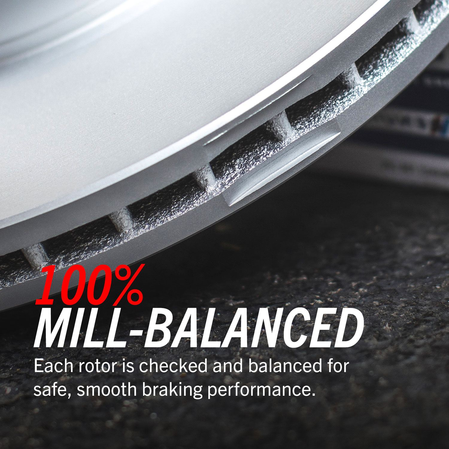 PowerStop Evolution Coated Rotor are 100% Mill-Balanced