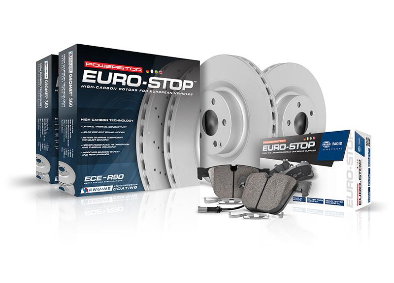 ECE R90, PowerStop, brake kit, brake pads, Euro stop, European vehicels
