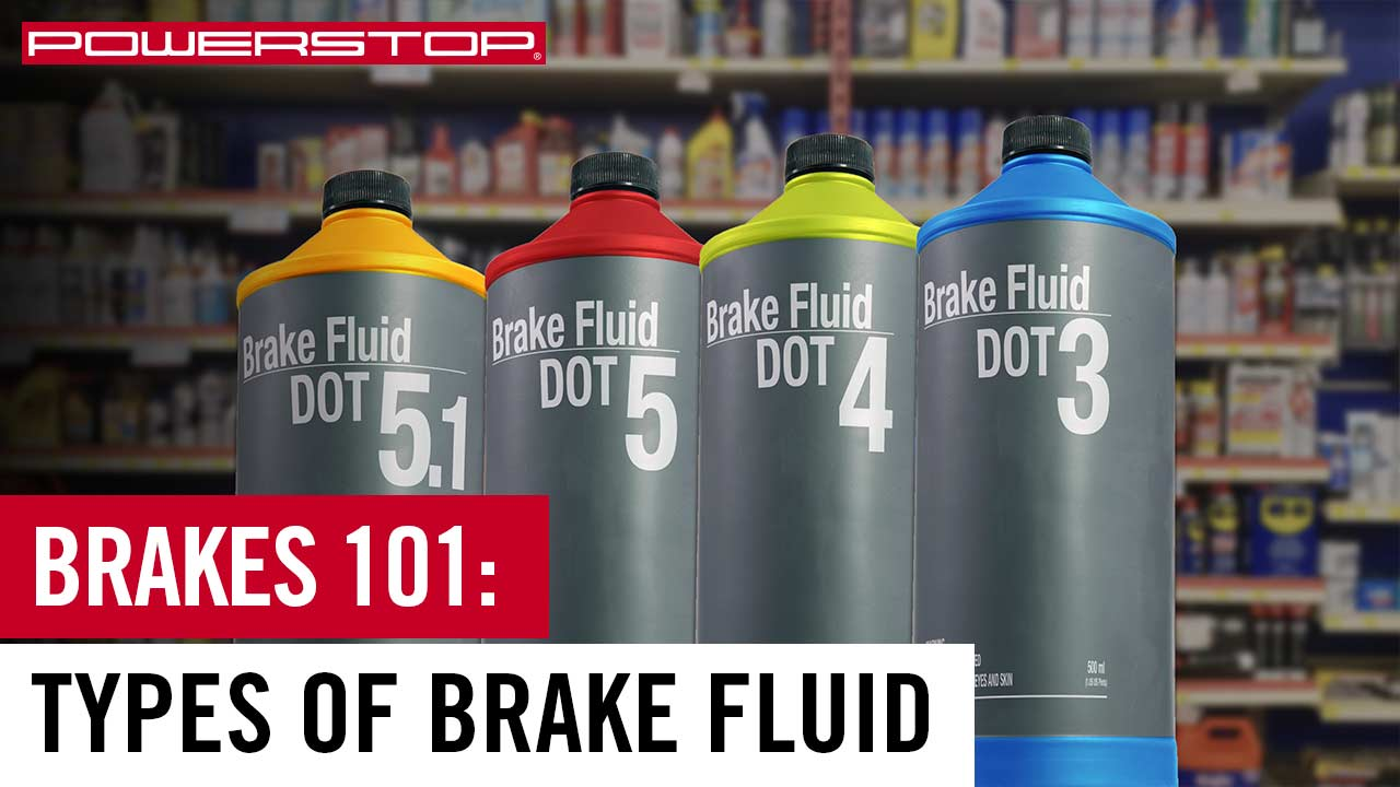 What are the different types of brake fluid