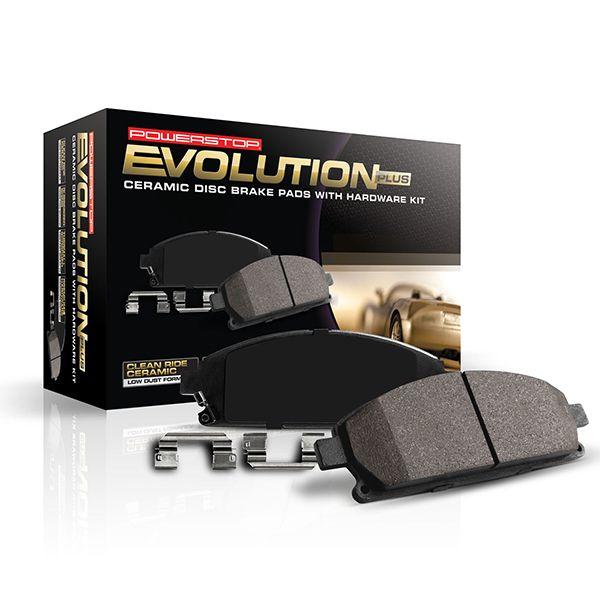 Power Stop 17-540 Z17 Rear Ceramic Brake Pads with Hardware