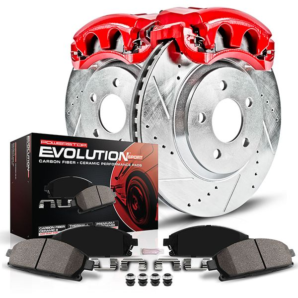 Fits: 2002 02 2003 03 Lexus ES300 Max Brakes Front Performance Brake Kit KT030831 Premium Slotted Drilled Rotors + Ceramic Pads