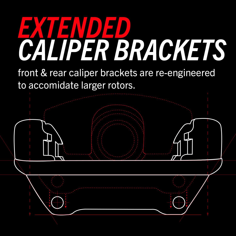 PowerStop Jeep JK JKU Big Brake Kit Extended Caliper Brackets