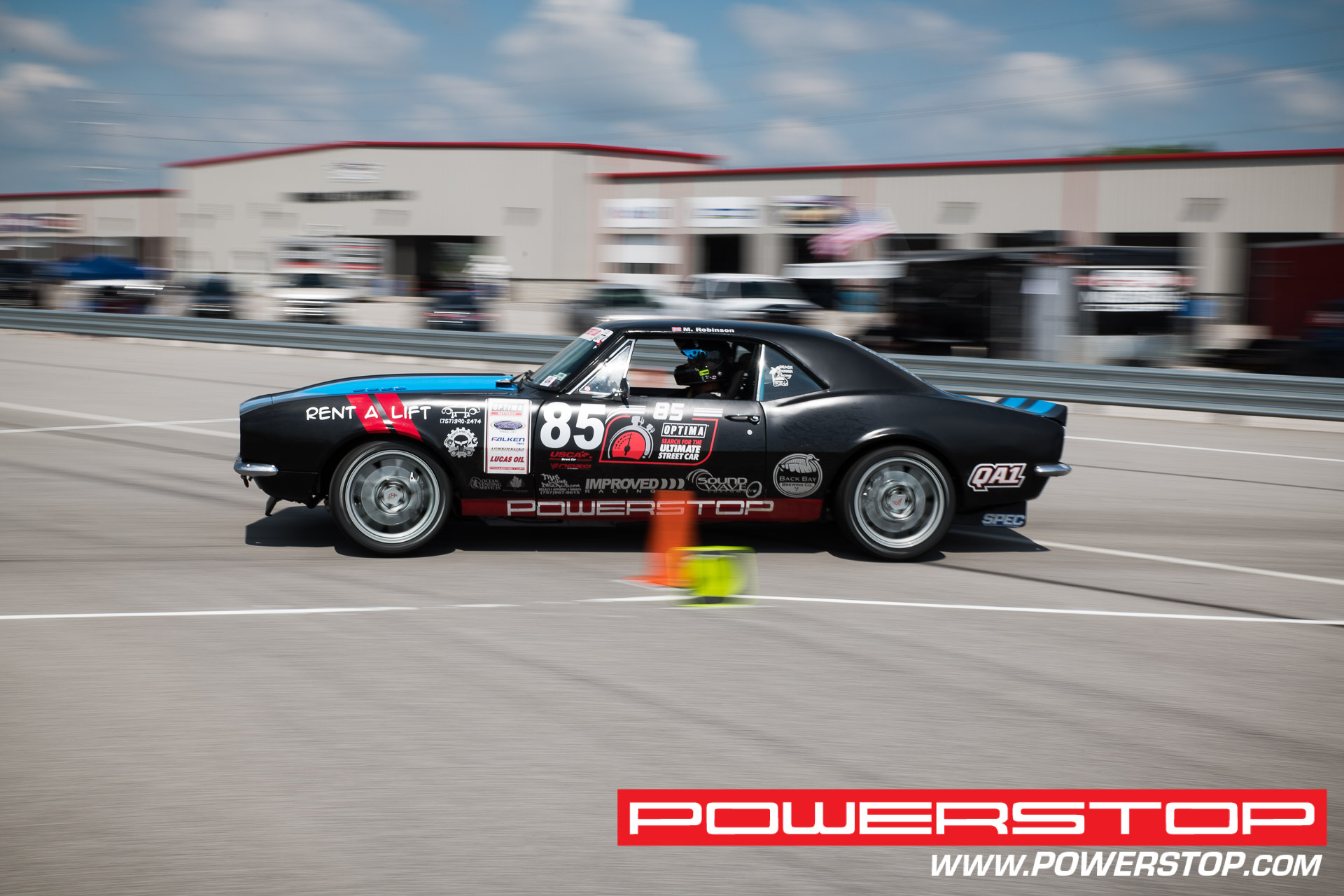 Mills Robinson PowerStop sponsored Team Driver at an OPTIMA Search For The Ultimate Streetcar challenge at NOLA