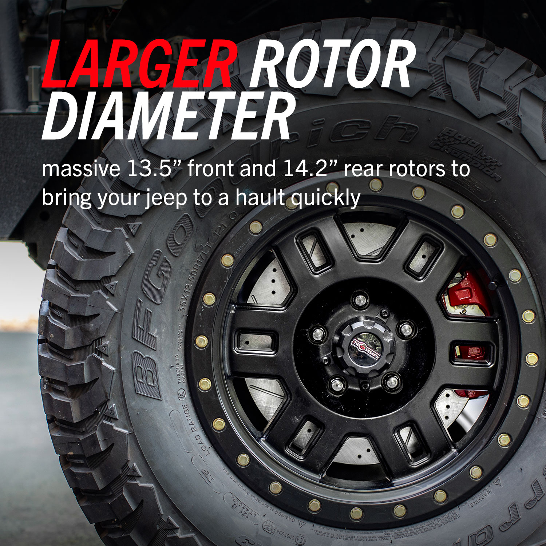PowerStop Jeep JK JKU Big Brake Kit Bigger Rotors