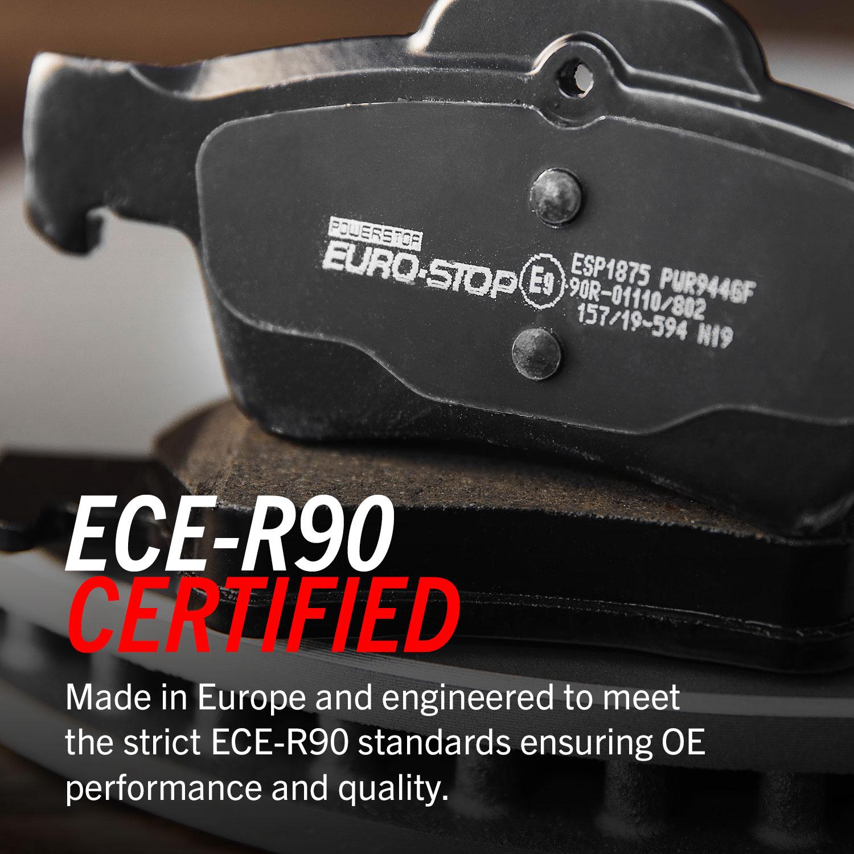 PowerStop Euro-Stop ECE-R90 Brake Pads